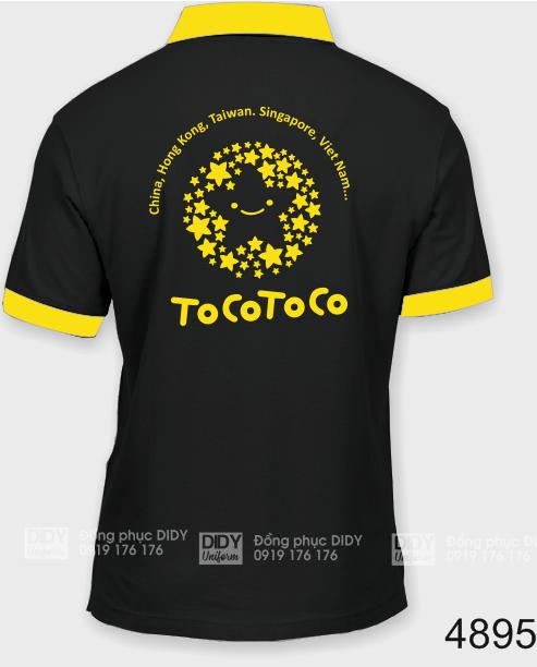 Áo thun đồng phục quán Trà Sữa Tocotoco