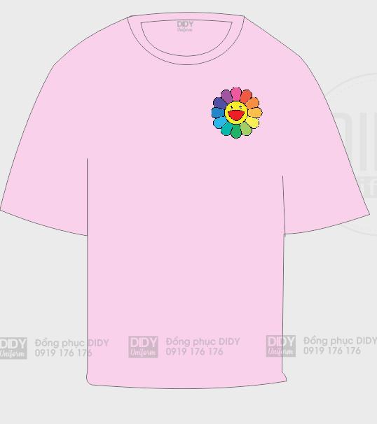 Áo lớp oversize màu hồng