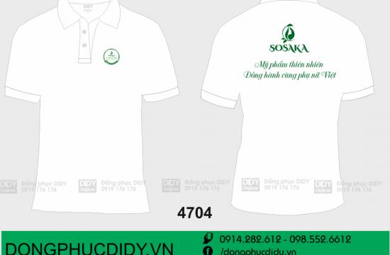 Áo nhân viên mỹ phẩm thiên nhiên SOSAKA