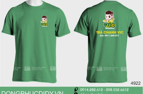 Áo thun đồng phục quán trà chanh VIC Quảng Ngãi